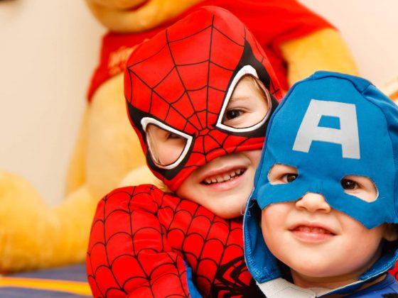 superheroes nursery story