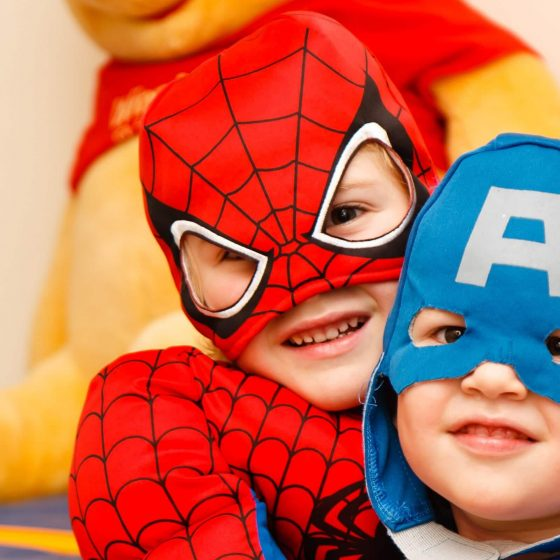 superheroes nursery story
